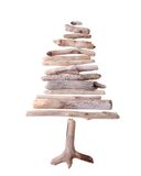 Drift wood tree. Sun bleached drift wood in the shape of a tree isolated on white background Royalty Free Stock Image