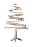Stick tree isolated on white. Sun bleached drift wood tree isolated on white background Royalty Free Stock Image