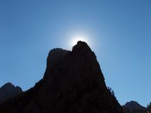 Sun Block. Mountain blocking the sun Stock Image