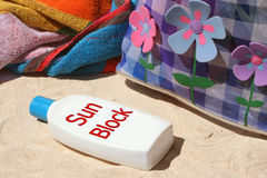 Sun block Royalty Free Stock Images
