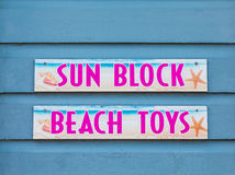Sun Block and Beach Toys Royalty Free Stock Photo