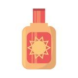 Sun blocker cream solar beach Stock Image