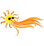 Sun Blowing stock illustration