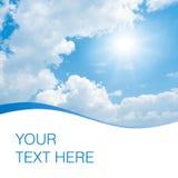 Sun on blue sky. Stock Image