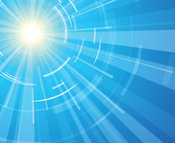 Sun on a blue sky Stock Photography