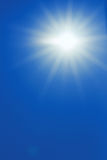 Sun on the blue sky Royalty Free Stock Photos