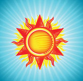 Sun on a blue sky Royalty Free Stock Image