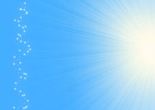 Sun on a blue sky Royalty Free Stock Photo