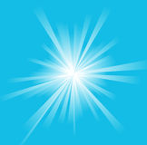 Sun on a blue sky Royalty Free Stock Images