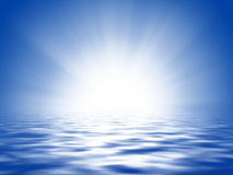 Sun, Blue Sky And Ocean Royalty Free Stock Image