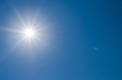 Sun shine on blue sky Royalty Free Stock Photos
