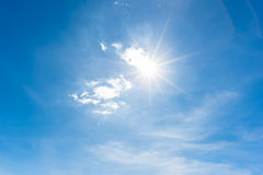 Sun, blue sky Royalty Free Stock Photography