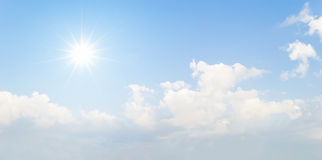 sun and blue sky with cloud Royalty Free Stock Photos