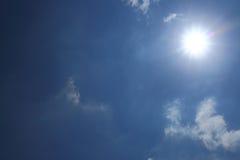 Sun in blue sky Royalty Free Stock Photo