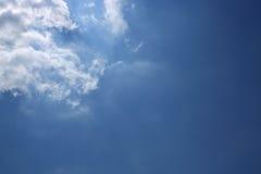 Sun in blue sky Stock Photo
