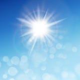The sun in the blue sky. EPS 10 Stock Photos