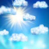 Sun in the blue sky. EPS 10 Stock Image