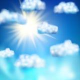 Sun in the blue sky. EPS 10 Stock Image