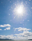 The sun on blue sky Royalty Free Stock Photography
