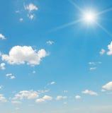 Sun on blue sky Royalty Free Stock Photography