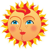 Sun with blues eyes Royalty Free Stock Images