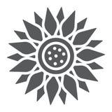 Sun-Blume Glyphikone, -landwirtschaft und -landwirtschaft Stockfoto