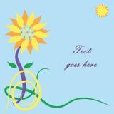 Sun-Blumengrußkarte Stockfotografie
