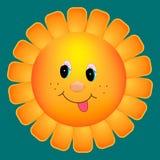Sun-Blumenkarikatur Stockbild
