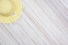Sun Bonnet on Wood Stock Photos