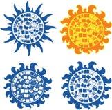 Sun books.eps. Sun books edycation logo, background.eps Royalty Free Stock Images