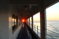 Sun an Bord des Schiffs Lizenzfreie Stockfotos