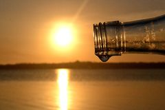 Sun in a bottle royalty free stock image