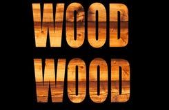 Sun bräunte Holz Stockfoto