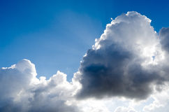 The sun breaks through the clouds. Royalty Free Stock Images