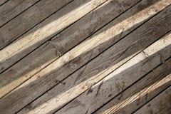 Sun brille sur le fond de conseils en bois Images libres de droits