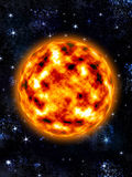 Sun - Burning planet Royalty Free Stock Images