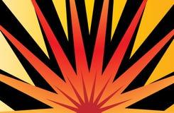 Sun Burst. Illustration in vibrant colors of yellow, orange, ocher and black Stock Image