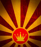 Sun burst background with chess queen icon. Chess game relative abstract backdrop Royalty Free Stock Photos