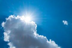 Free Sun Burst Behind Cloud With Dark Blue Sky Royalty Free Stock Photos - 73354388