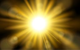 Sun burst with lens flare background Royalty Free Stock Images