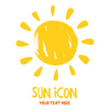 Sun burst logo icon Royalty Free Stock Photography