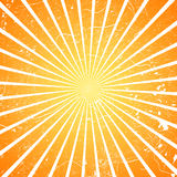 Sun burst. Orange gradient background with scratches Royalty Free Stock Image