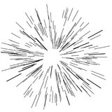 Sun burst, star burst sunshine. Radiating from the center of thin beams, lines. Vector illustration. Design element for logo, signs Dynamic style Abstract Royalty Free Stock Image
