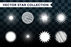 Sun burst, star or snowflakes logo icon set Stock Photo