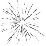 Sun burst, star burst sunshine. Radiating from the center of thin beams, lines. Vector illustration. Design element for logo, signs Dynamic style Abstract Stock Photos