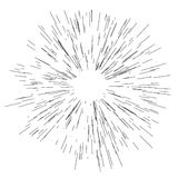 Sun burst, star burst sunshine. Radiating from the center of thin beams, lines Vector illustration. Design element for logo, signs. Dynamic style Abstract Royalty Free Stock Image