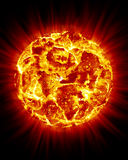 Sun Bursting. Sun and bursts showing the heat royalty free illustration