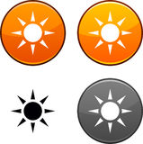 Sun button. Stock Image