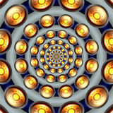 Sun button tunnel Royalty Free Stock Images