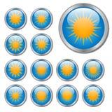 Sun Buttons Stock Photos
